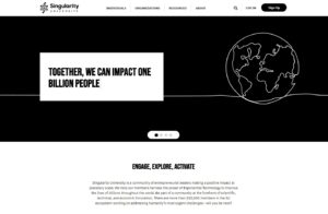 Singularity Universityのウェブサイト
